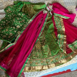 Dresses & Skirts - Saree with blouse and skirt